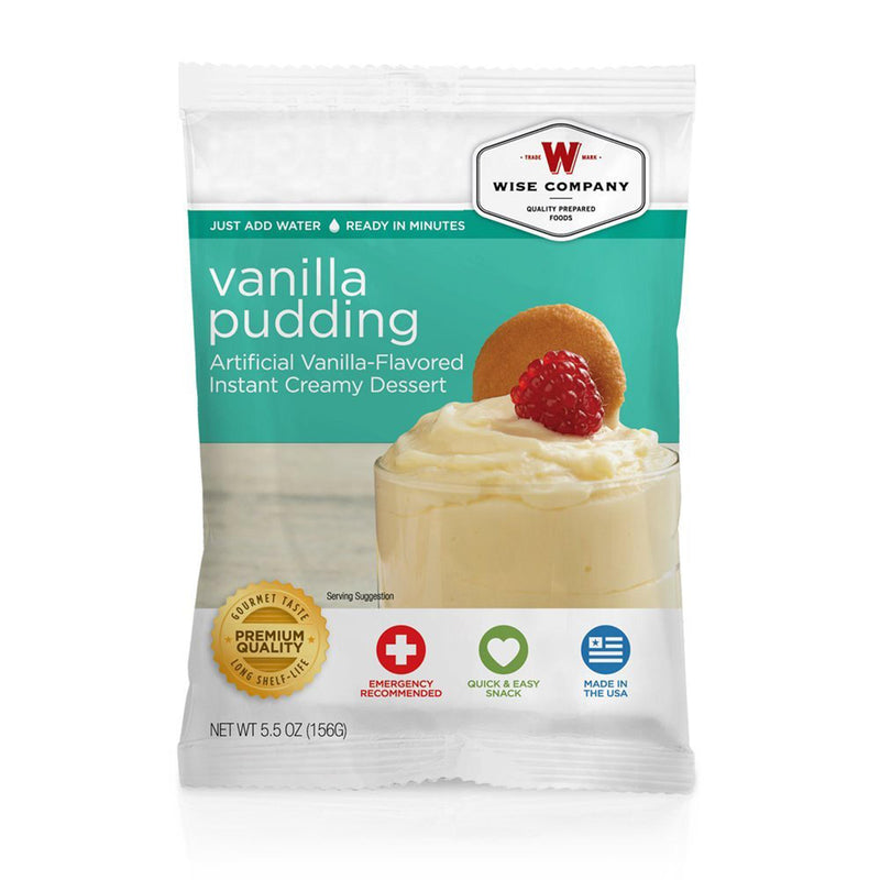 Wise Dessert Dish - Vanilla Pudding, 4 Servings