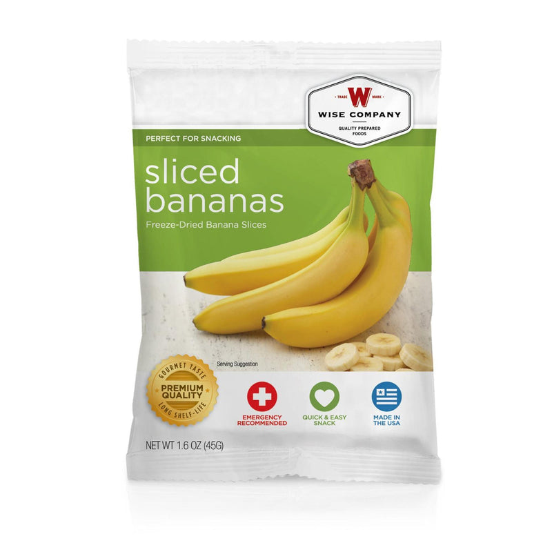 Wise Fruit - Sliced Bananas, 4 Servings