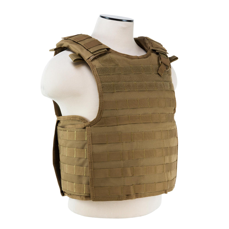 Quick Release Plate Carrier Vest - Tan