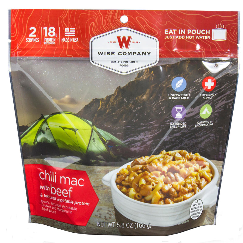 Wise Entree Dish - Chili Mac with Beef, 2 Servings