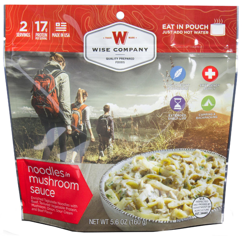 Wise Entree Dish - Noodles and Beef with Mushroom Sauce, 2 Servings