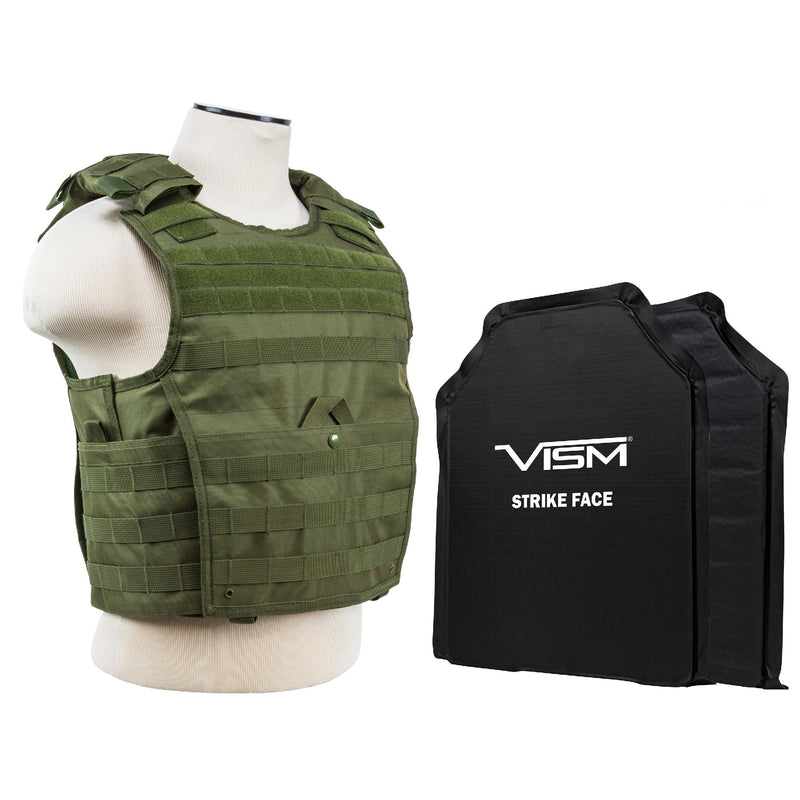 "Expert Plate Carrier Vest with 11"" x 14"" Soft Panels - Green"
