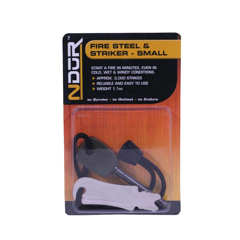 NDur Fire Steel and Striker - Small, Black