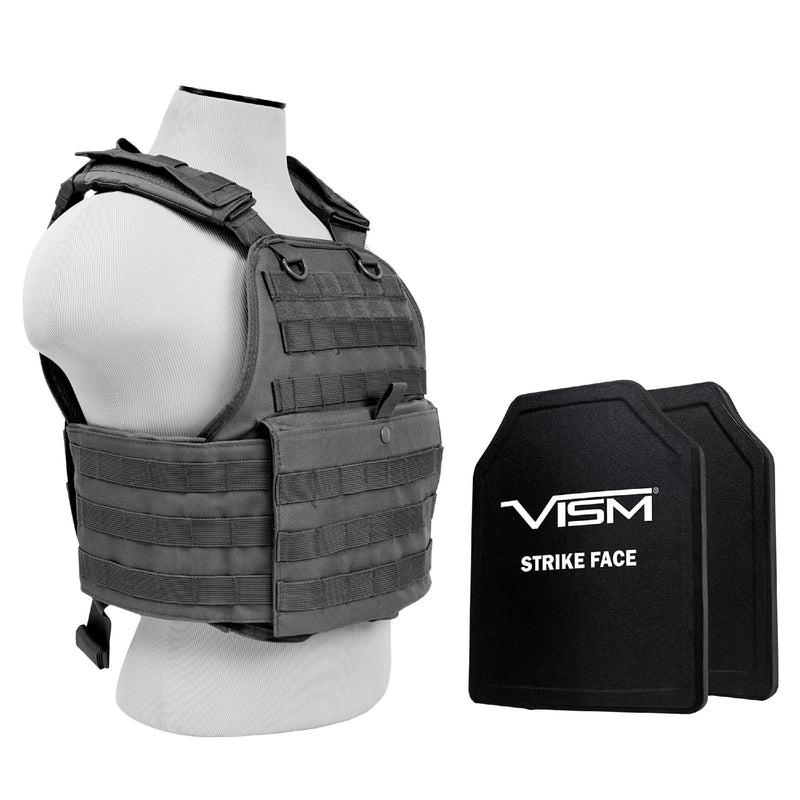 "Plate Carrier with Two 10""x12"" PE Hard Plates - Urban Gray"