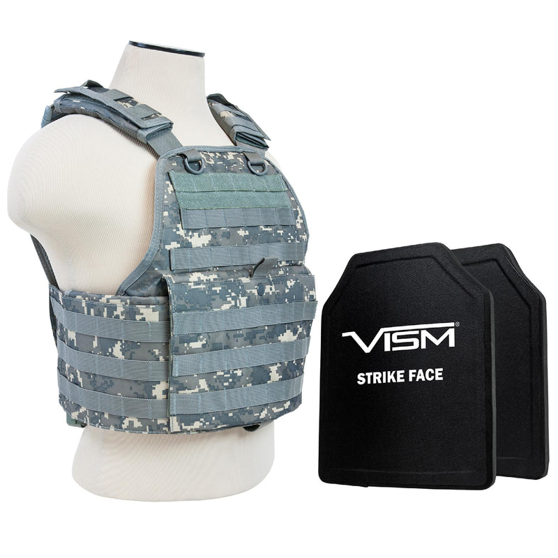 "Plate Carrier with Two 10""x12"" PE Hard Plates - Digital Camo"