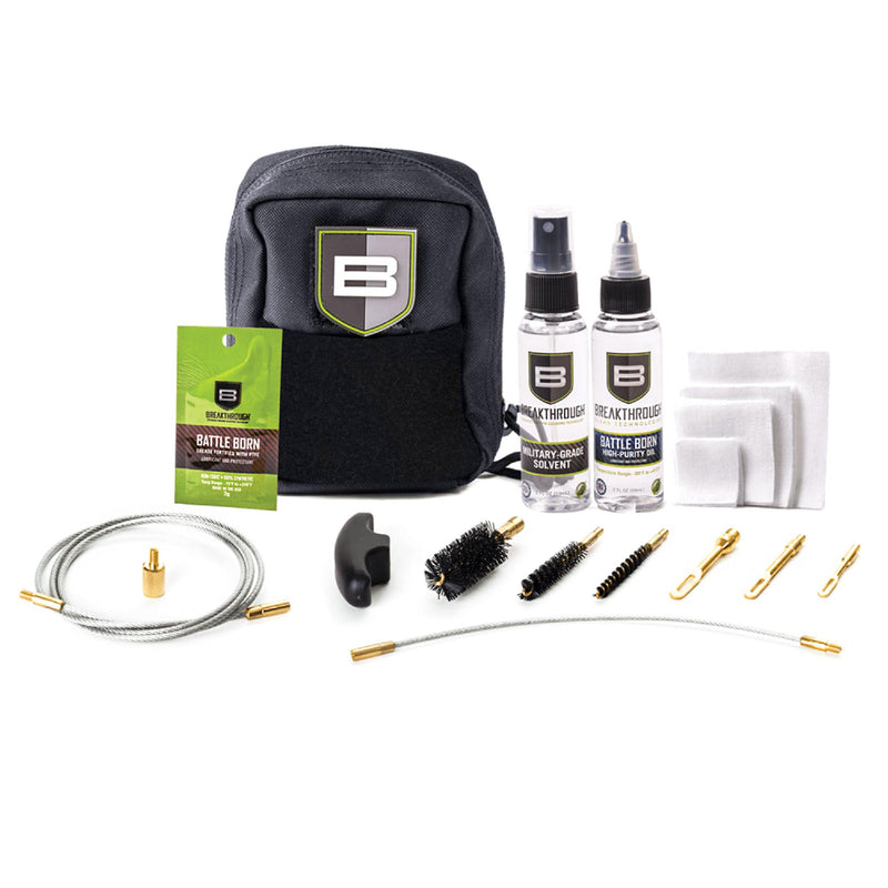 Breakthrough Cleaning Kit - QWIC-3G Pull Through, Solvent-Oil-Grease, Brushes-Patch Holders. and ect.