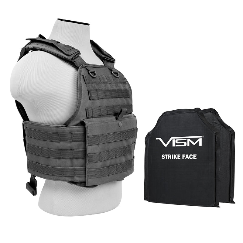 "Plate Carrier Vest - 2, 10"" x 12"", Urban Gray"