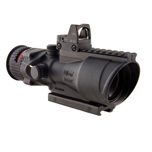 ACOG 6x48mm Dual Illumination Scope - Red Chevron .308 Ball Ret, M1913 Rail, 6.5 MOA RMR Type 2 Sight, TA75 Mount, Blk