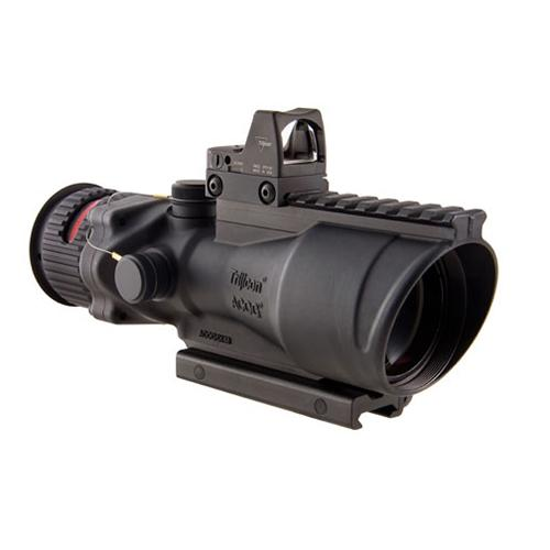 ACOG 6x48mm Dual Illumination Scope - Red Chevron .223 Ball Ret, 6.5 MOA RMR Type 2 Sight, and TA75 Mount, Black