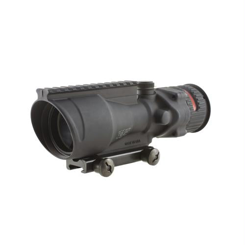 ACOG 6x48mm Dual Illuminated Scope - Red Chevron .308 Ballistic Reticle with TA75 Mount and M1913 Rail, Black