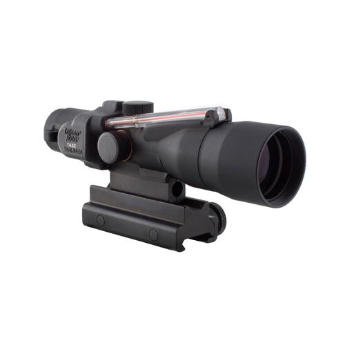 ACOG 3x30mm Compact Dual Illuminated Scope - Red Chevron .223-62gr Ballistic Reticle with Colt Knob Thumbscrew Mount, Black