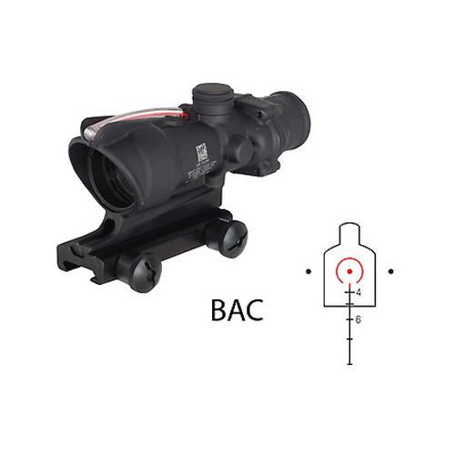 ACOG 4x32mm Dual Illuminated Scope - Amber Horseshoe-Dot Reticle and M4 BDC with TA51 Mount, Black