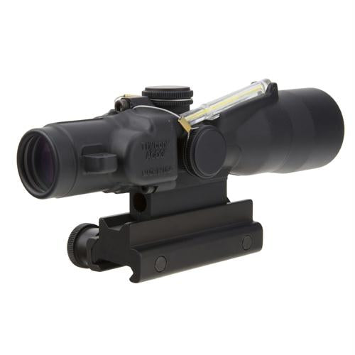 ACOG 3x30mm Compact Dual Illuminated Scope - Amber Crosshair .223-69gr Rem Ball Reticle with Colt Knob Thumbscrew Mount, Blk