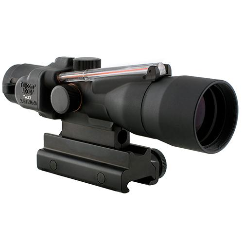 ACOG 3x30mm Compact Dual Illuminated Scope - Red Crosshair .308-168gr Win Ball Reticle with Colt Knob Thumbscrew Mount, Black