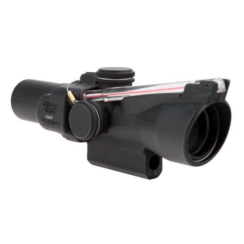 ACOG 1.5x24mm Compact Dual Illuminated Scope - Red Crosshair Reticle with M16 Carry Handle Base, Black