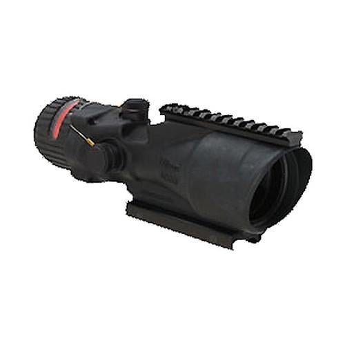 ACOG 6x48mm Dual Illuminated Scope - Red Chevron .223 Ballistic Reticle with TA75 Mount & M1913 Rail, Black