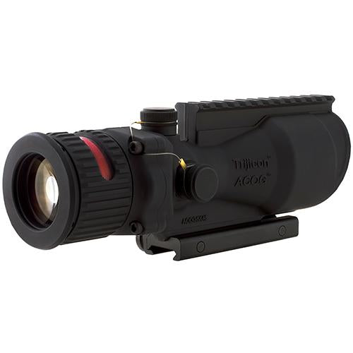 ACOG 6x48mm Dual Illuminated Scope - Red Horseshoe .308 Ballistic Reticle with TA75 Mount and M1913 Rail, Black