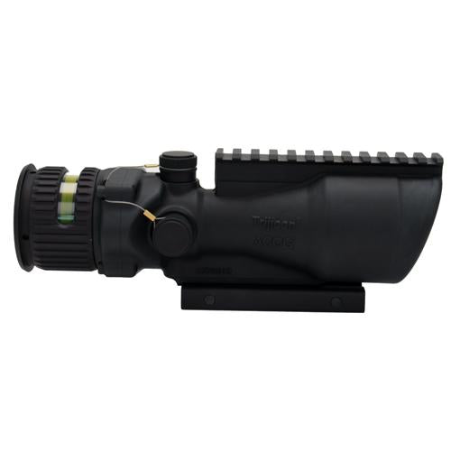 ACOG 6x48mm Dual Illuminated Scope - Amber Chevron .223 Ballistic Reticle with TA75 Mount and M1913 Rail, Black
