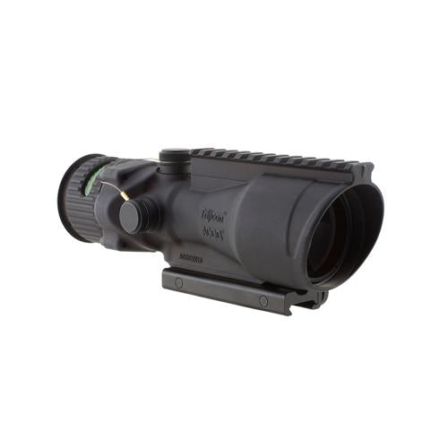 ACOG 6x48mm Dual Illuminated Scope - Green Chevron .223 Ballistic Reticle with TA75 Mount and M1913 Rail, Black