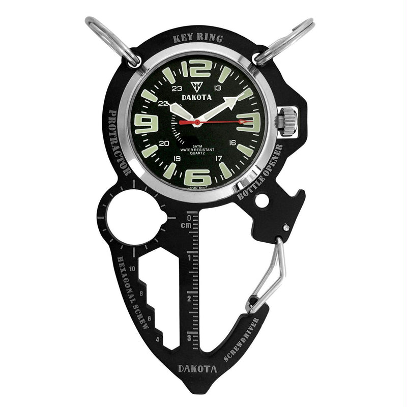 Dakota Multi-Tool Clip Watch Black