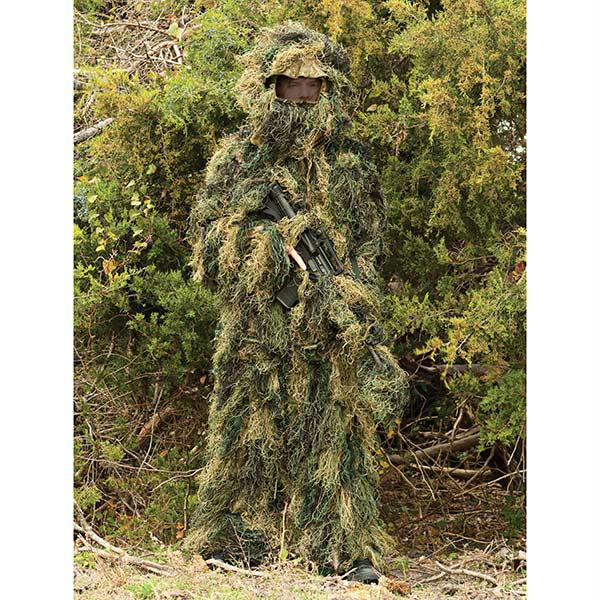 Red Rock 5-Piece Ghillie Suit Woodland Camo Medium-Large