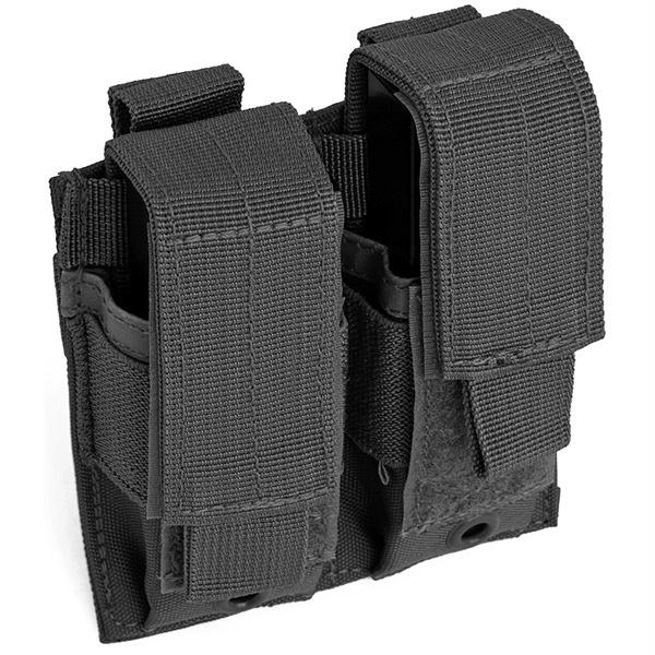 Red Rock Gear Double Pistol Mag Pouch Black