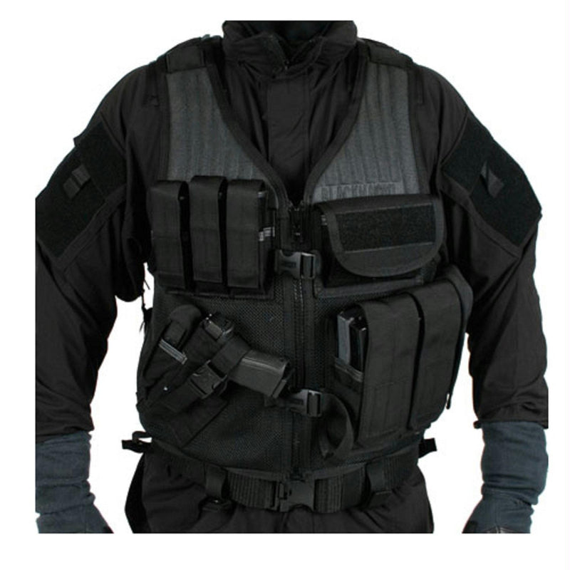 Blackhawk Omega Elite Cross Draw-Pistol Mag Vest RH Black