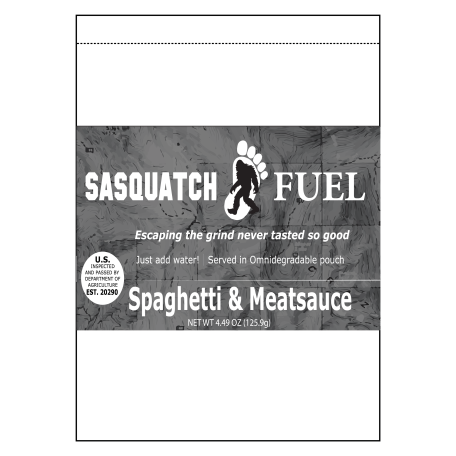 Sasquatch Fuel - Spaghetti and Meatsauce