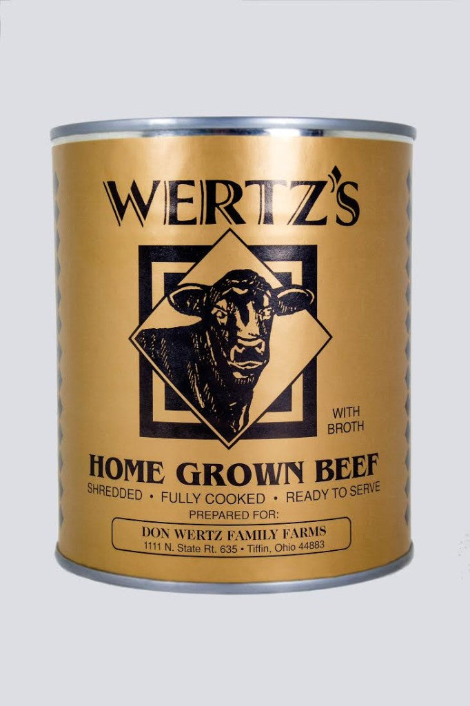 Wertz's Homegrown Premium Canned Beef 4 Pack  28oz Cans