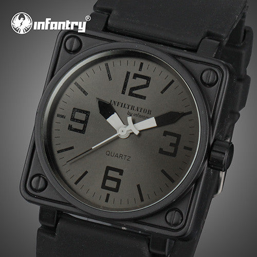 Infantry Mens Quartz watches Military Square Face
