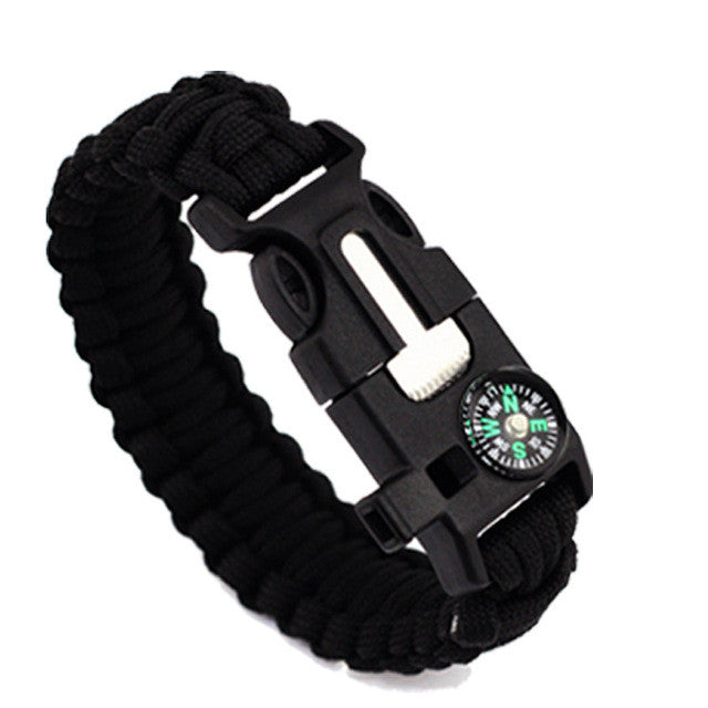 Multi-functional 5 in 1 Outdoor Survival Gear Escape Paracord Bracelet