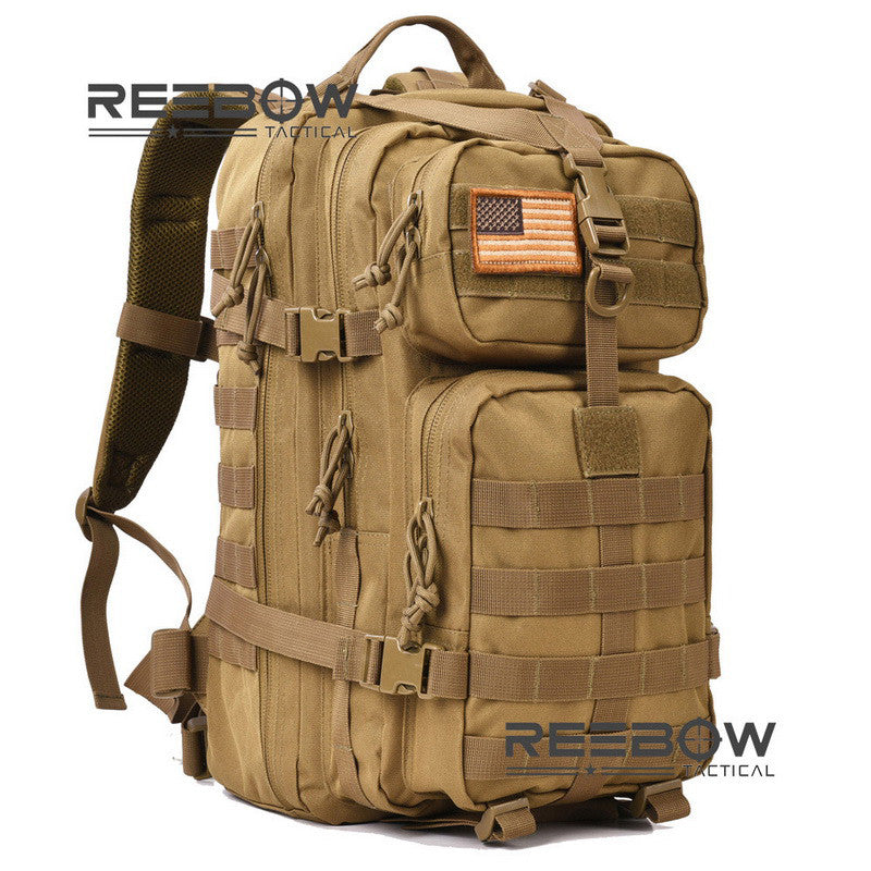 REEBOW tactical Backpack Molle Waterproof Black or Tan