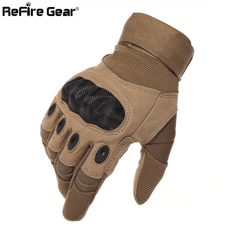 Tactical Gloves Men Full Finger Gloves Carbon Shell