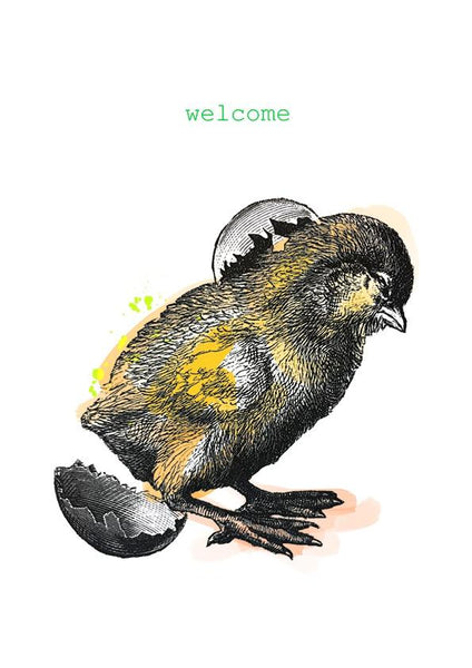 Welcome Chick Greeting Card