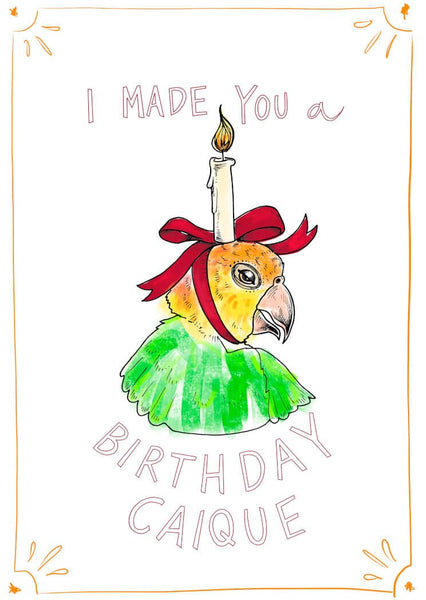 Birthday Caique Greeting Card