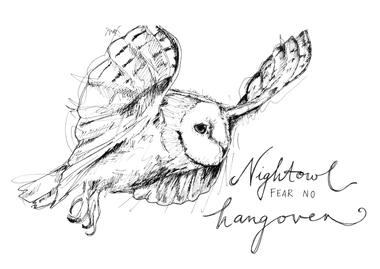 Nightowl Fear No Hangover A5 Print