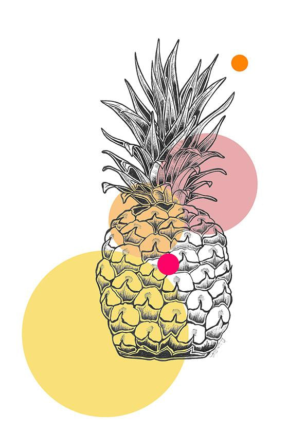 Pop Pineapple Greeting Card