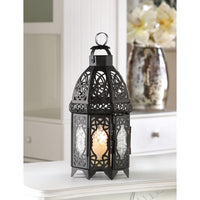 black lattice candle lantern gothic home decor