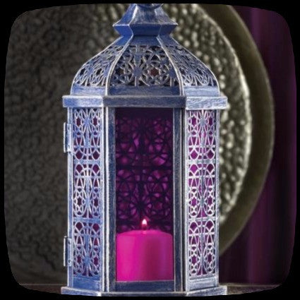 gothic candle lantern purple home decor
