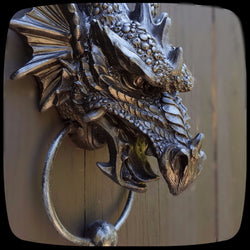 Dragon Door Knocker dragon home decor outdoor decor dragons