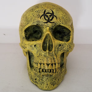 biohazard skull skulls skull decor yellow skull