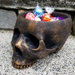 skull bowl skull decor gothic home decor skull gift skull planter skull outdoor decor skulls
