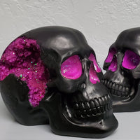 purple and black geode skull