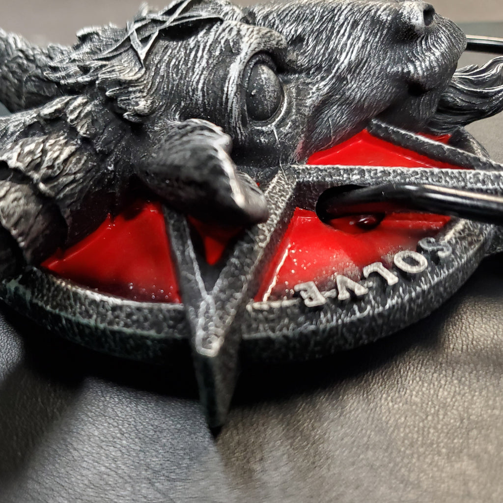red Baphomet pentacle door knocker baphomet pentagram satanic devil