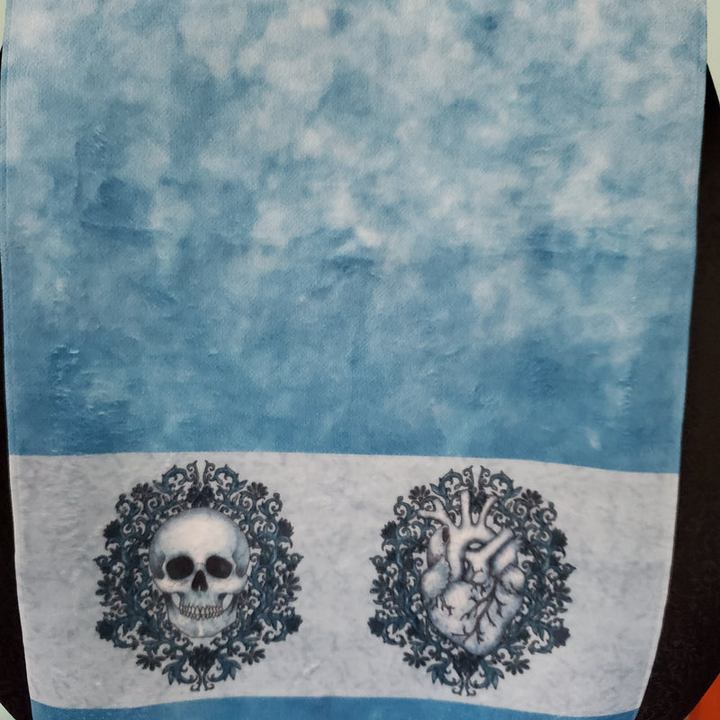 Skull & Heart Hand Towel