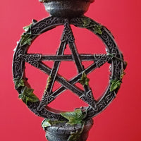 pentacle pentagram candle holder candlestick holder gothic home decor wiccan home decor pagan home decor darkothica