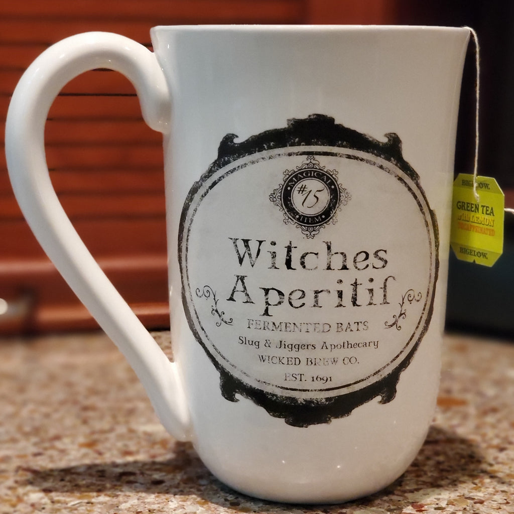 darkothica witch coffee mug coffee cup bats salem witch cup pagan occult kitchen decor dishes
