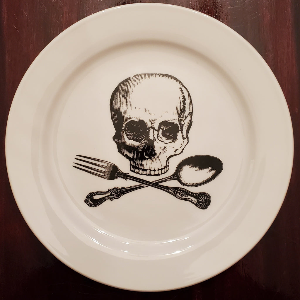 darkothica dishes dishware plate skull plate