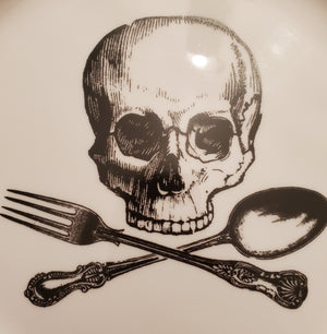 "Skull & Cross Utensils 10.5"" Plate"