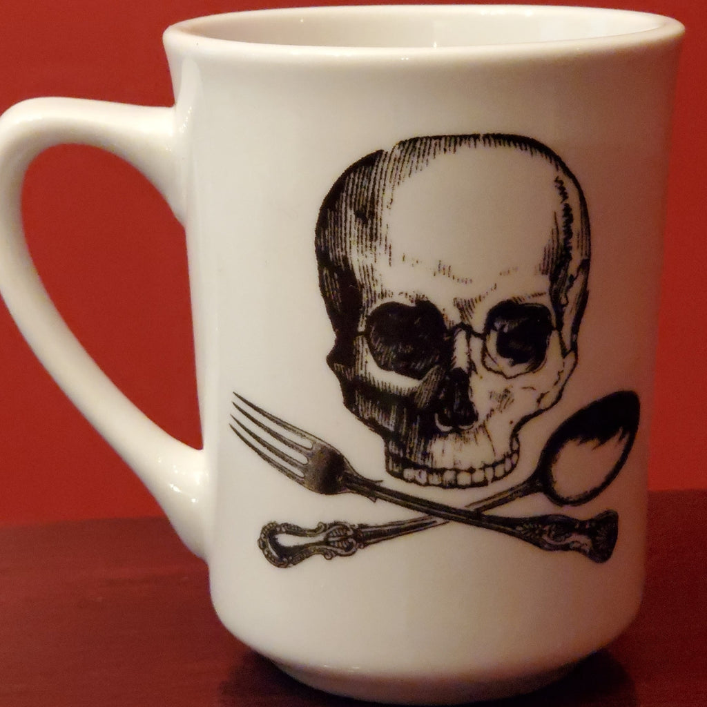 darkothica dishes dishware plate skull mug cup coffee cup
